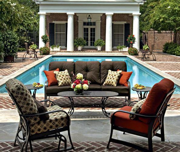 Crimson Casual Coastal Grove Cushion Www Texaspatios Com Patio Furniture Outdoor Furniture Sets Patio
