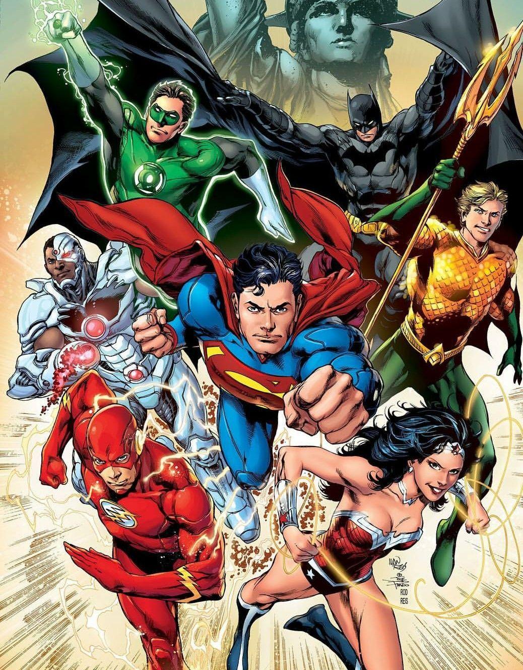 Pin de Kory Marshall em Comics Herois, Justice league