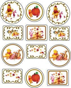 Free Printable Thanksgiving Winnie the Pooh 2 Stickers