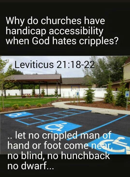 Image result for leviticus meme handicapped