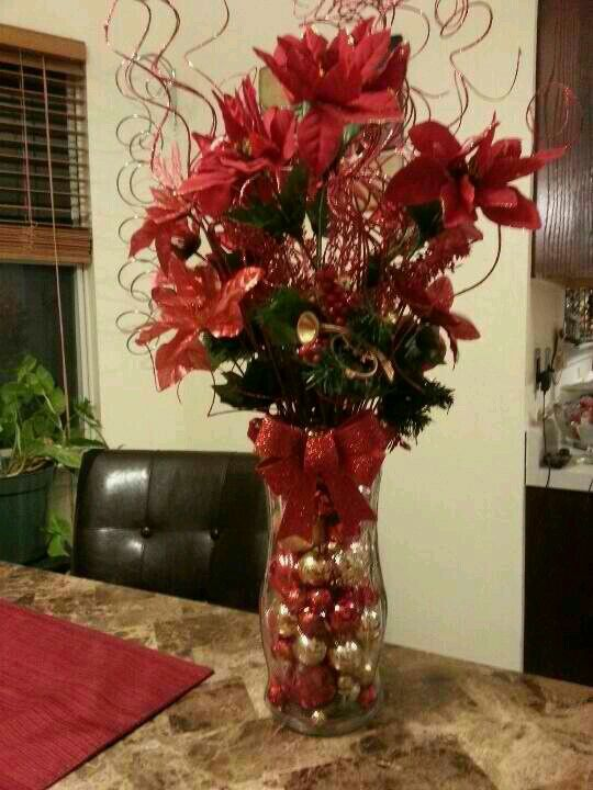 Christmas Vase Diy Wreaths Frames Etc Pinterest Christmas