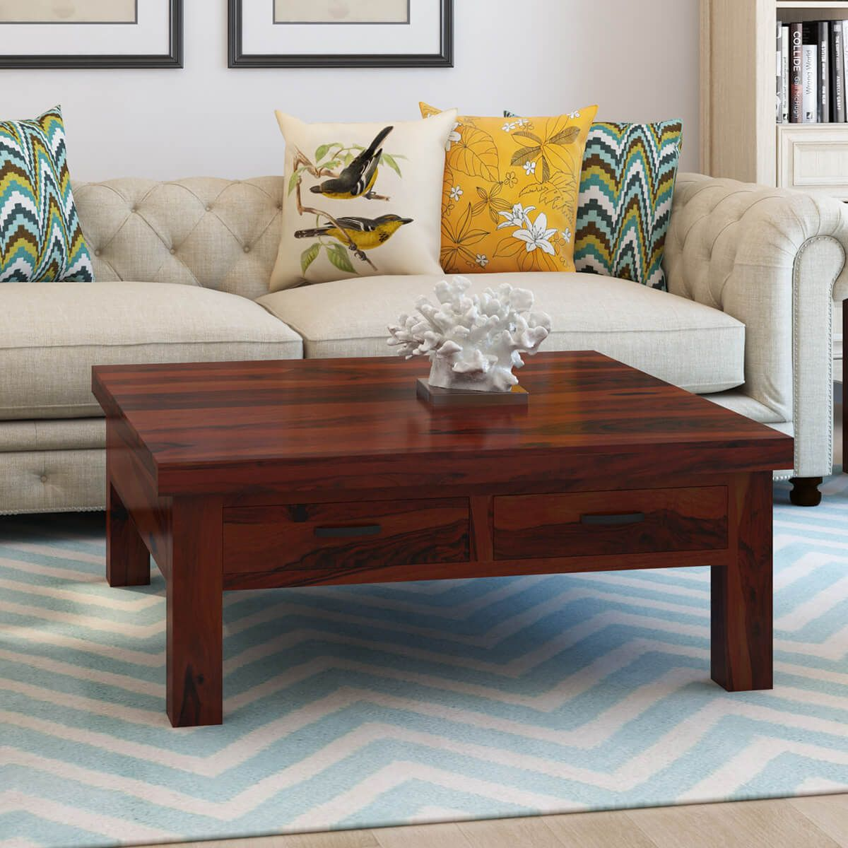 43++ Wood and glass coffee table with drawers ideas in 2021