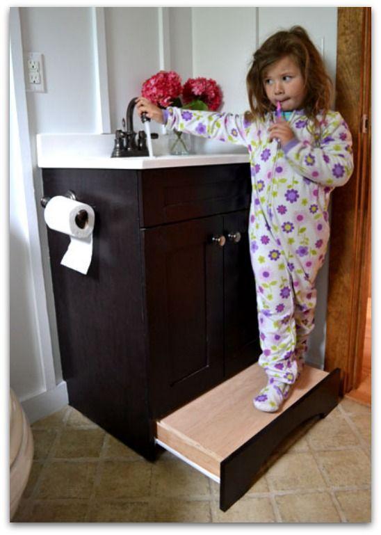 vanity drawer step stool Future ideas Pinterest Stools
