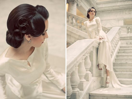 40's inspired bridals