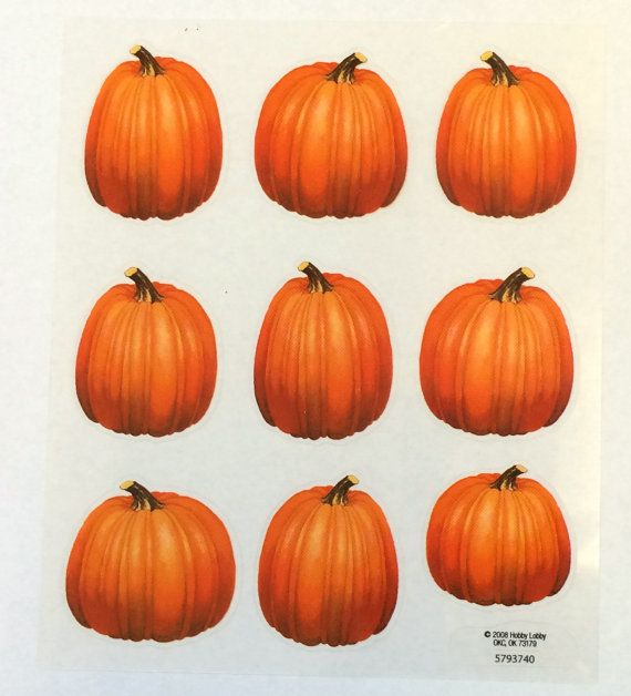 Free shipping 36 pumpkin stickers 4 clear by playingwithcolor2