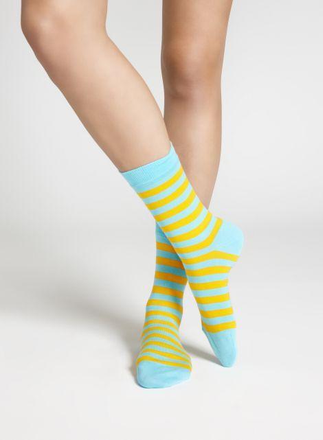 Raitsu-sukat (sininen, oranssi) |Asusteet, Sukat ja sukkahousut, Laukut & asusteet | Marimekko