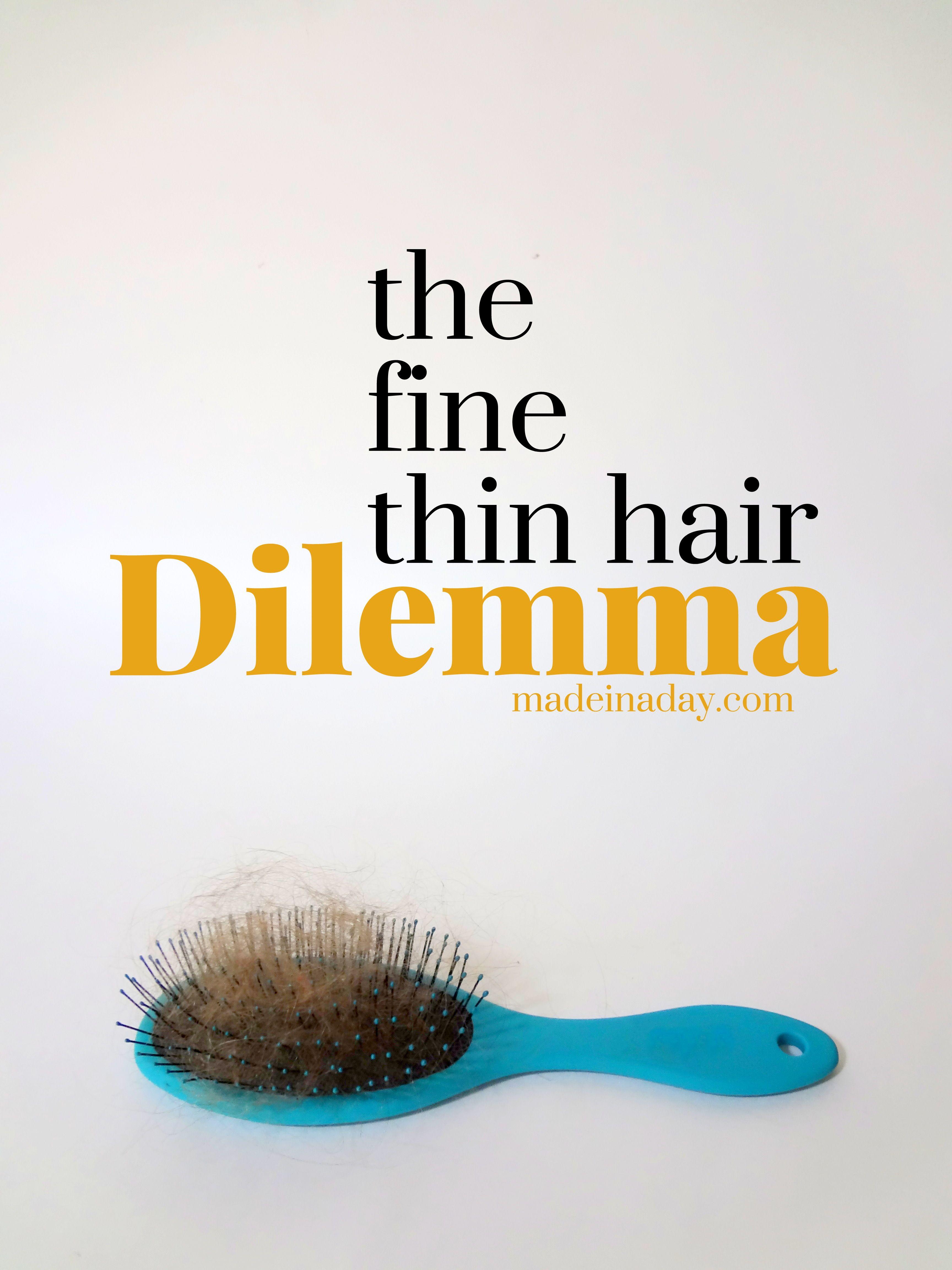 The Fine Thin Hair Dilemma Part 1!