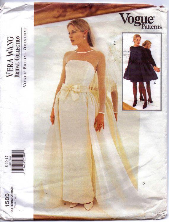 Vogue Bridal Patterns Original Pattern 1583 Vera Womens Or