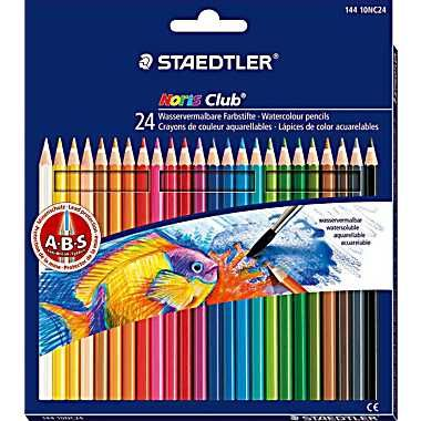 Staedtler Noris Watercolor Pencils Assorted Colors 24 Box