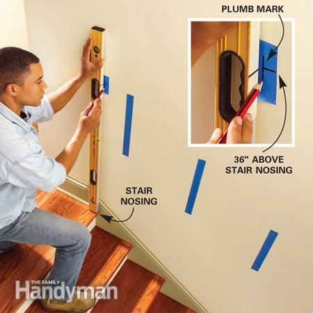Install A New Stair Handrail Stair Handrail Indoor