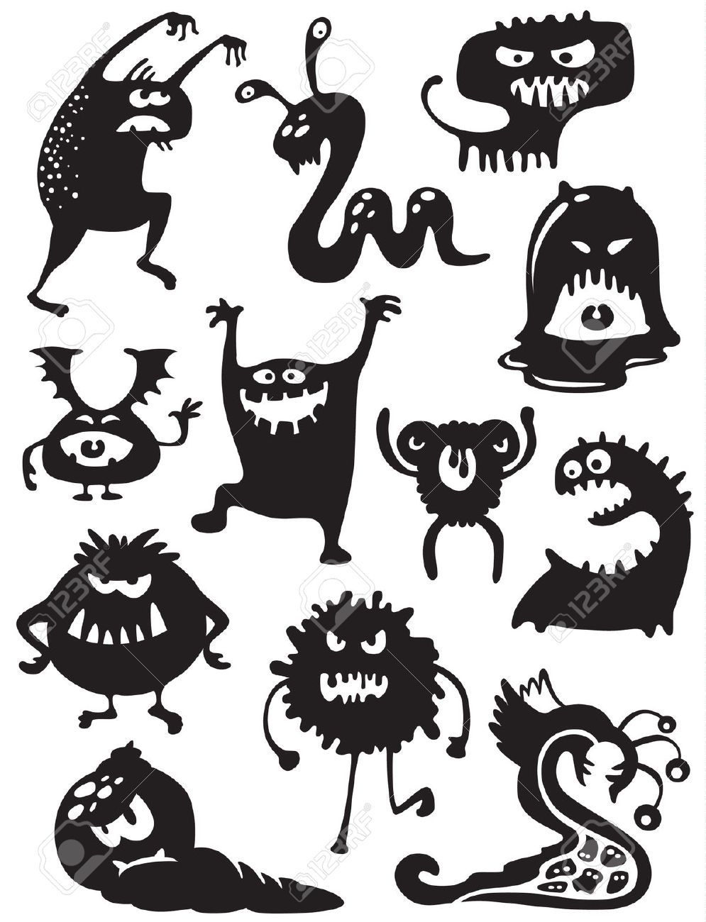 halloween monster silhouette Google Search Детский