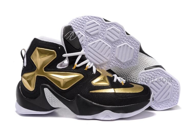 check out 96641 4ac04 Latest and Cheapest Lebron 13 XIII Finals Away Black Metallic Gold. Gold  Sneakers, Nike Sneakers, Converse Shoes, Adidas Shoes, Buy Nike Shoes,
