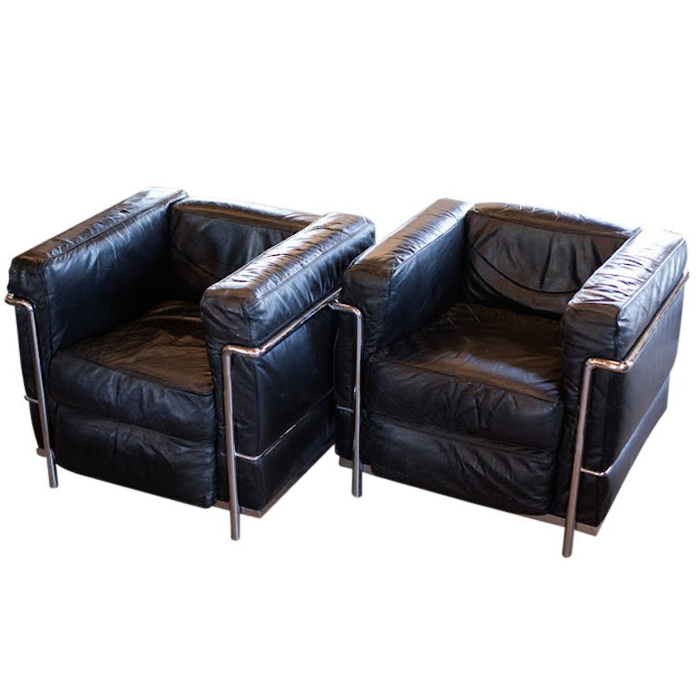 """Need A Apartment Now: Pair Of """"Grand Confort"""" Le Corbusier Chairs"""