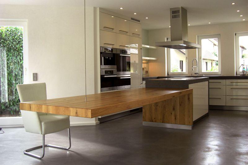 Projekt Küche 02 Nuss Möbelmanufaktur Home Modern House - kche mit esstisch