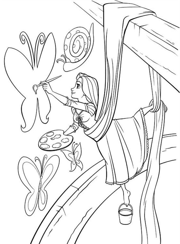 rapunzel coloring pages princess coloring pages