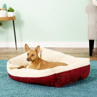 Aspen Pet Self Warming Pet Bed, Warm Spice/Cream, 19in