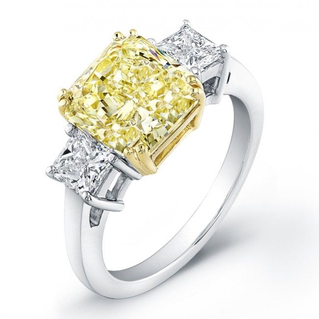 Natureal Collection Three Stone Diamond Engagement Ring Featuring