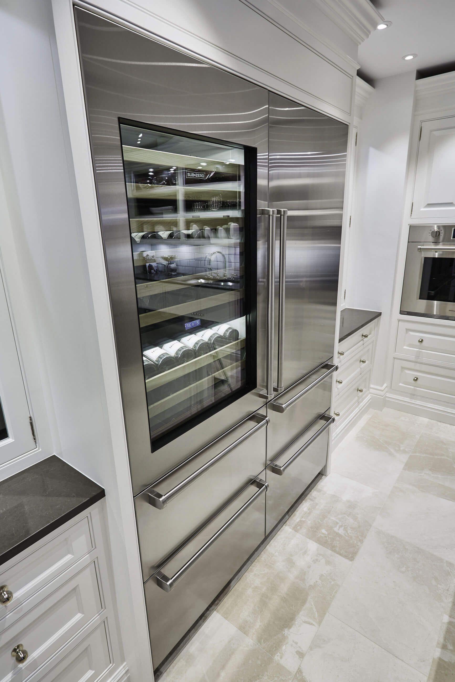 Grand White Painted Kitchen With Statement Monochrome Island