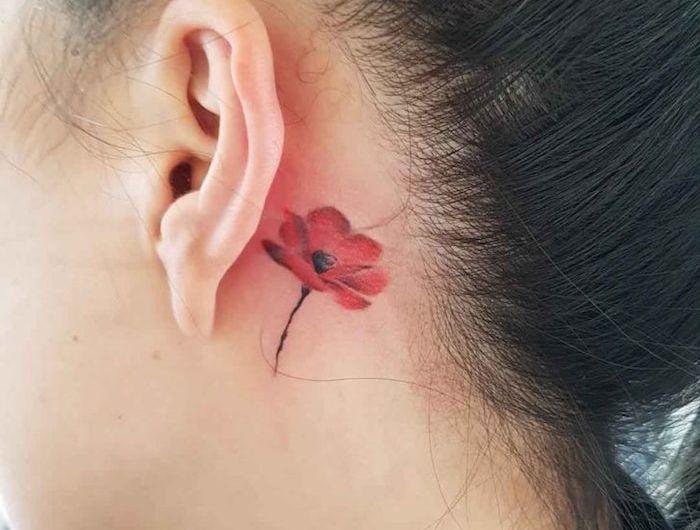 tatouage coquelicot – un champ de 52 modèles en photos | idée