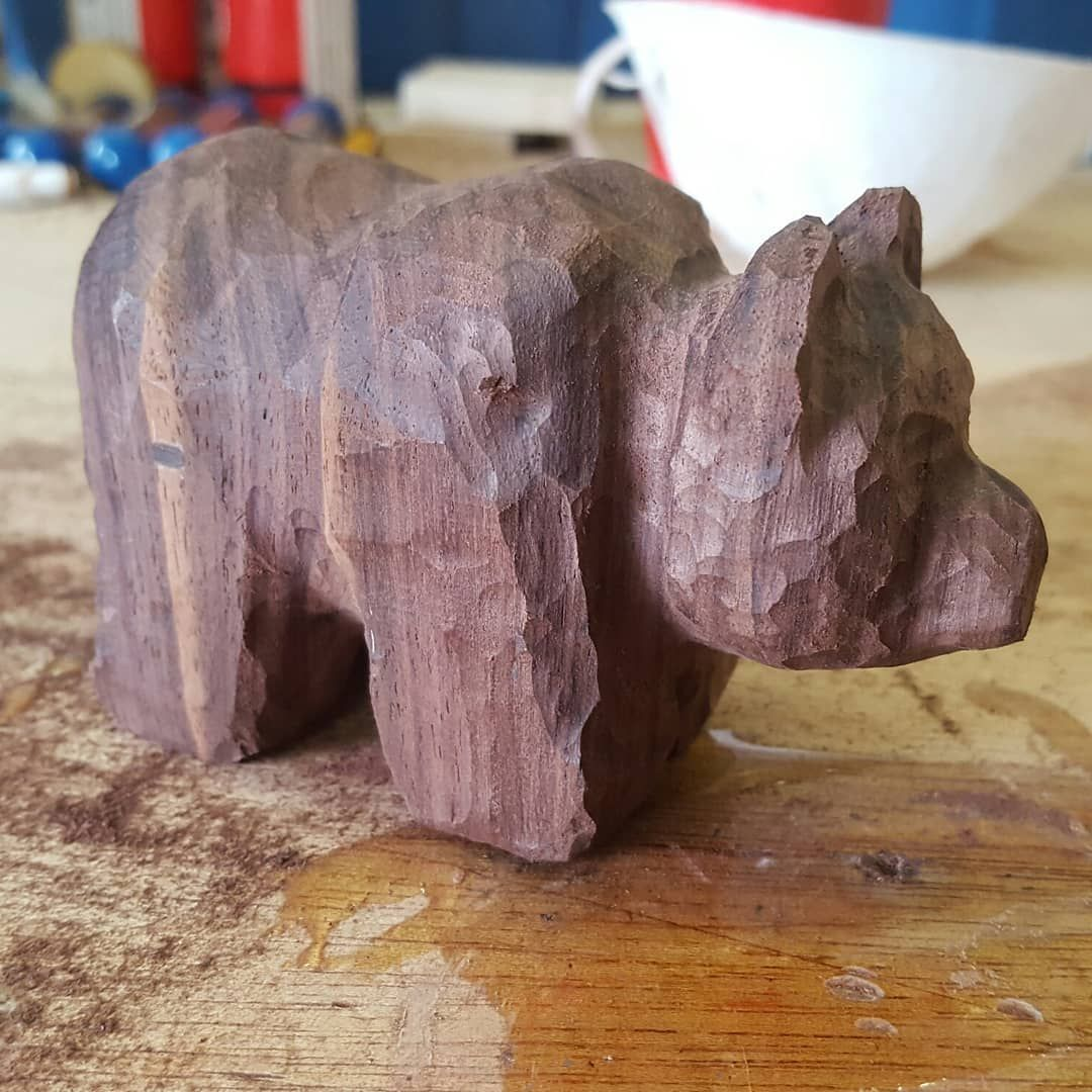 Bear Wood Porn little bear taking shape. . . . . . . #wood #woodworking