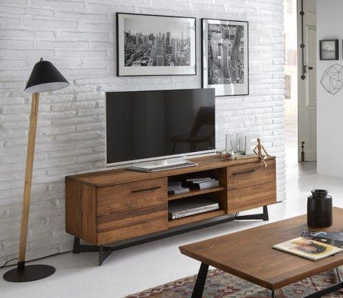 Mueble de TV en Madera de Roble : Colección OREGON | MESAS PARA TV ...