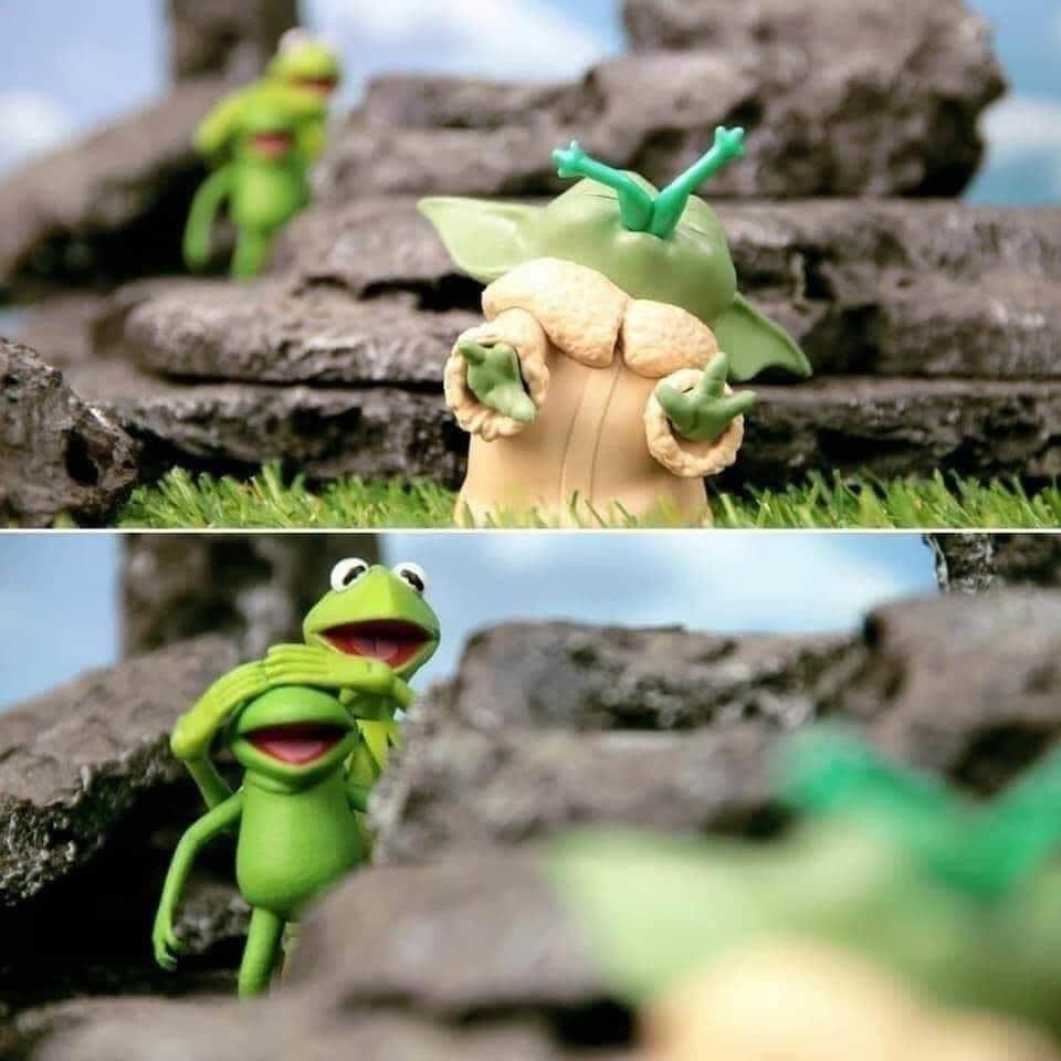 Baby Yoda Yummy In 2020 Yoda Funny Star Wars Memes Star Wars Humor