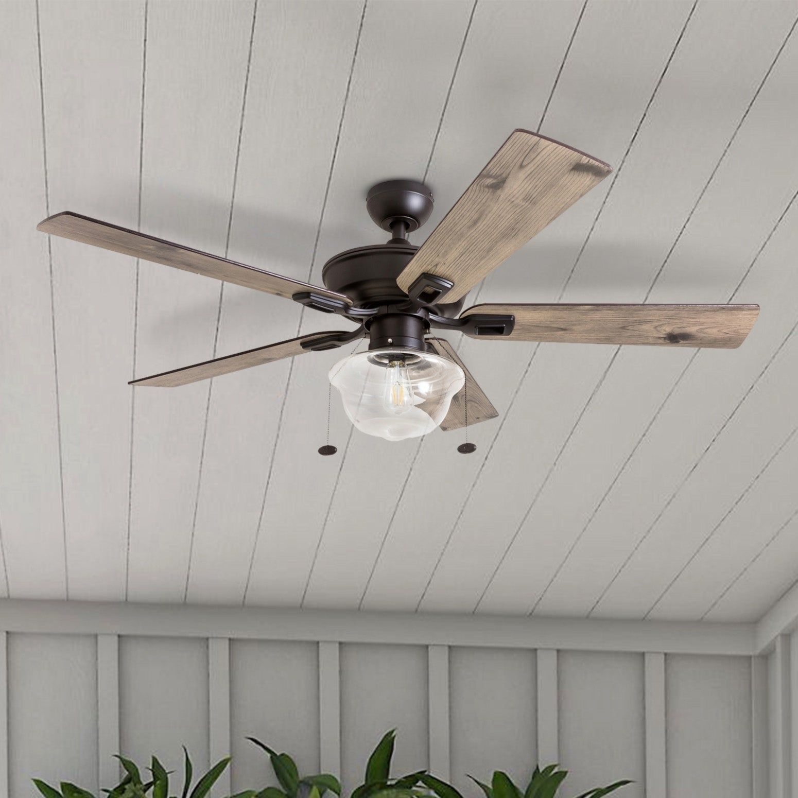 Prominence Home Abner Indoor Outdoor Ceiling Fan Damp Rated