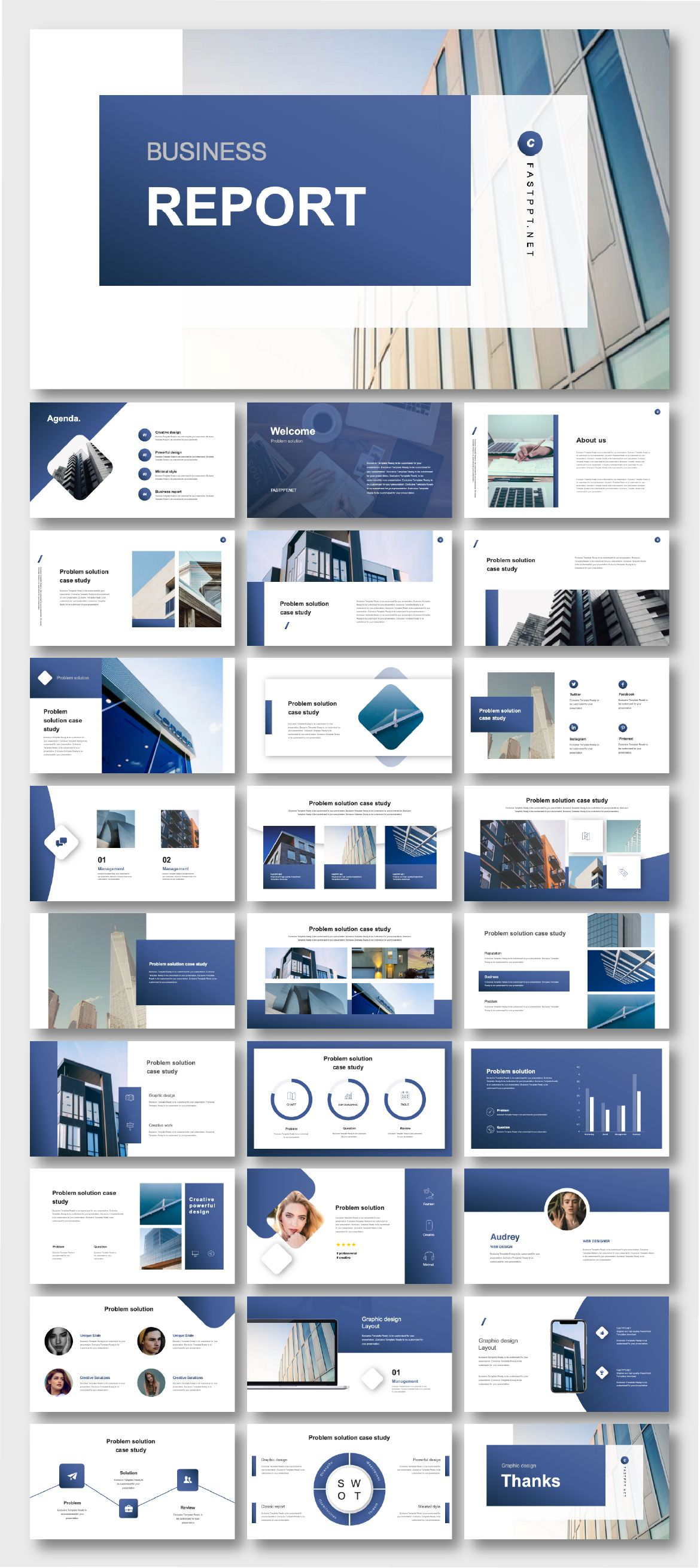 Cool Modern Blue Business Presentation Template Original And High Quality Powerpoint Templates Business Presentation Templates Powerpoint Presentation Design Ppt Template Design