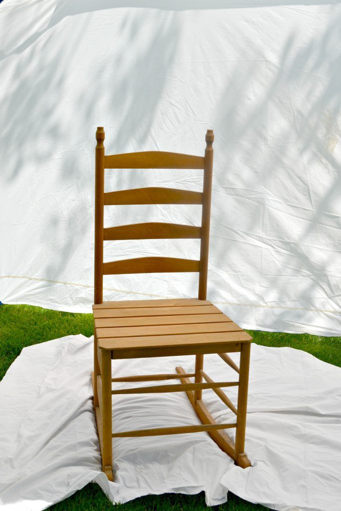 Painted Homemade Rocking Chairs painted in the HomeRight Spray Shelter