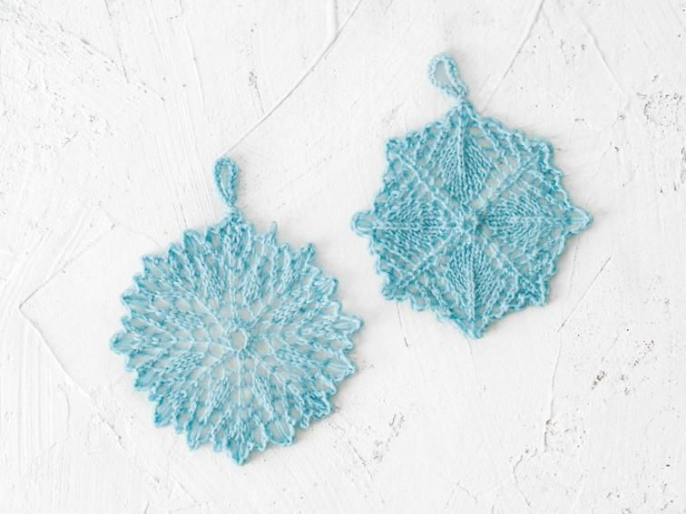 Snowflake Ornaments by Sunne Meyer | Craftsy | Kantbreien | Pinterest