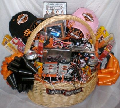 Harley Davidson Gift Basket Valentine Gift Baskets Harley Gift Gift Baskets For Him
