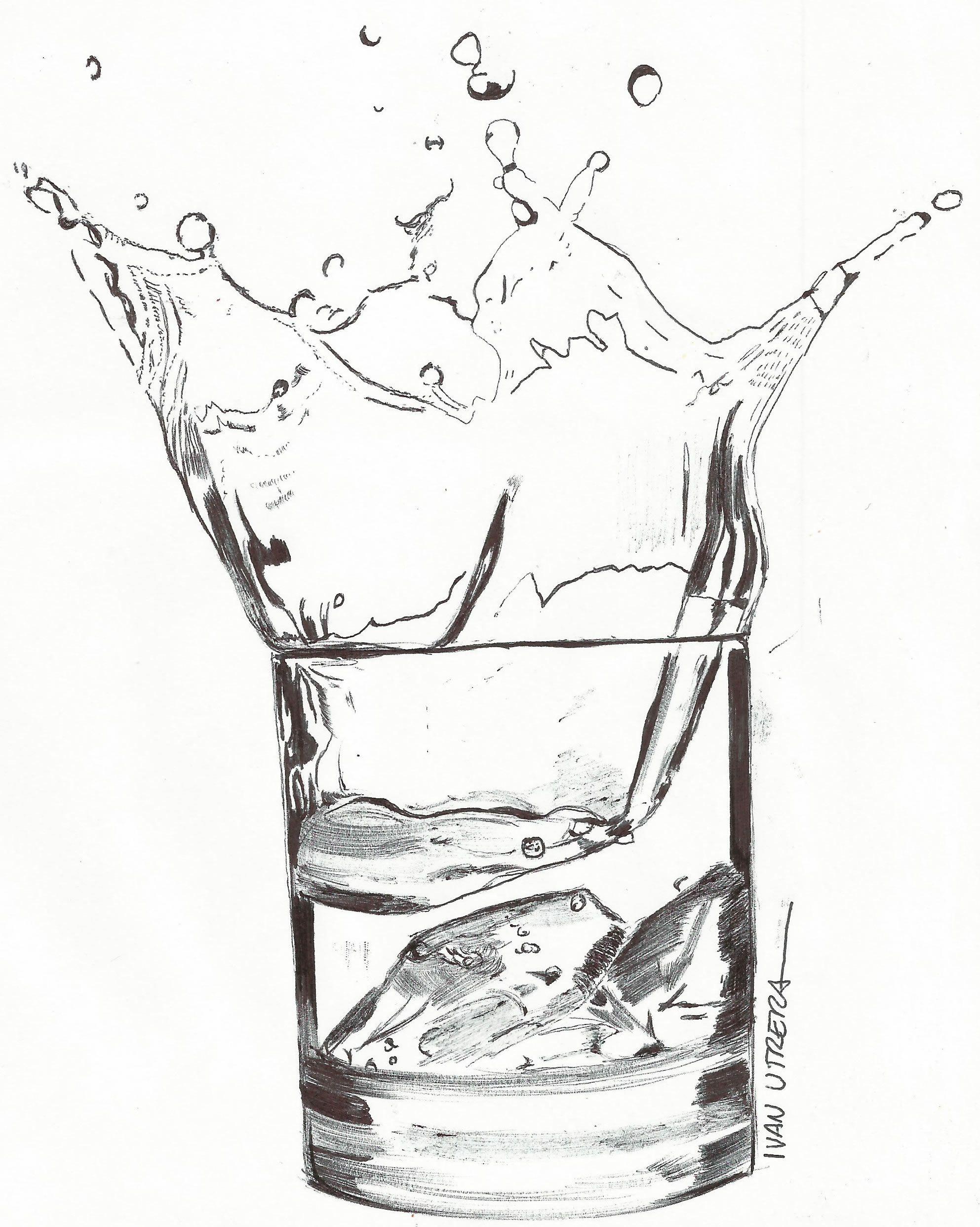 Dibujo Vaso Con Agua Dibujos Dibujos A Lapicero Vaso Dibujo