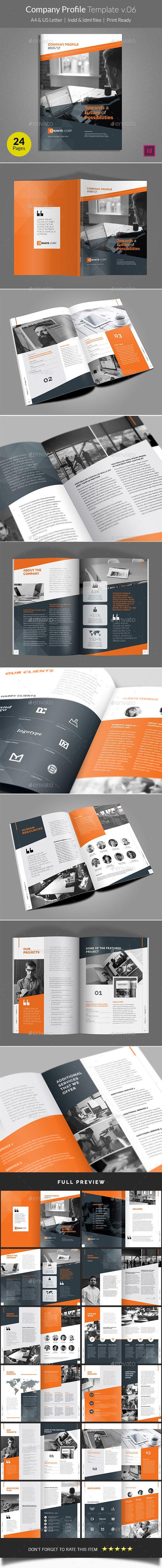 Company Profile Template v06 | Company profile, Brochure template ...