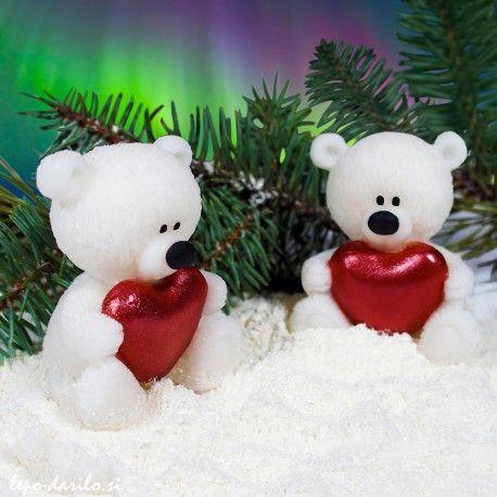 Polar bear with a heart 3D soap