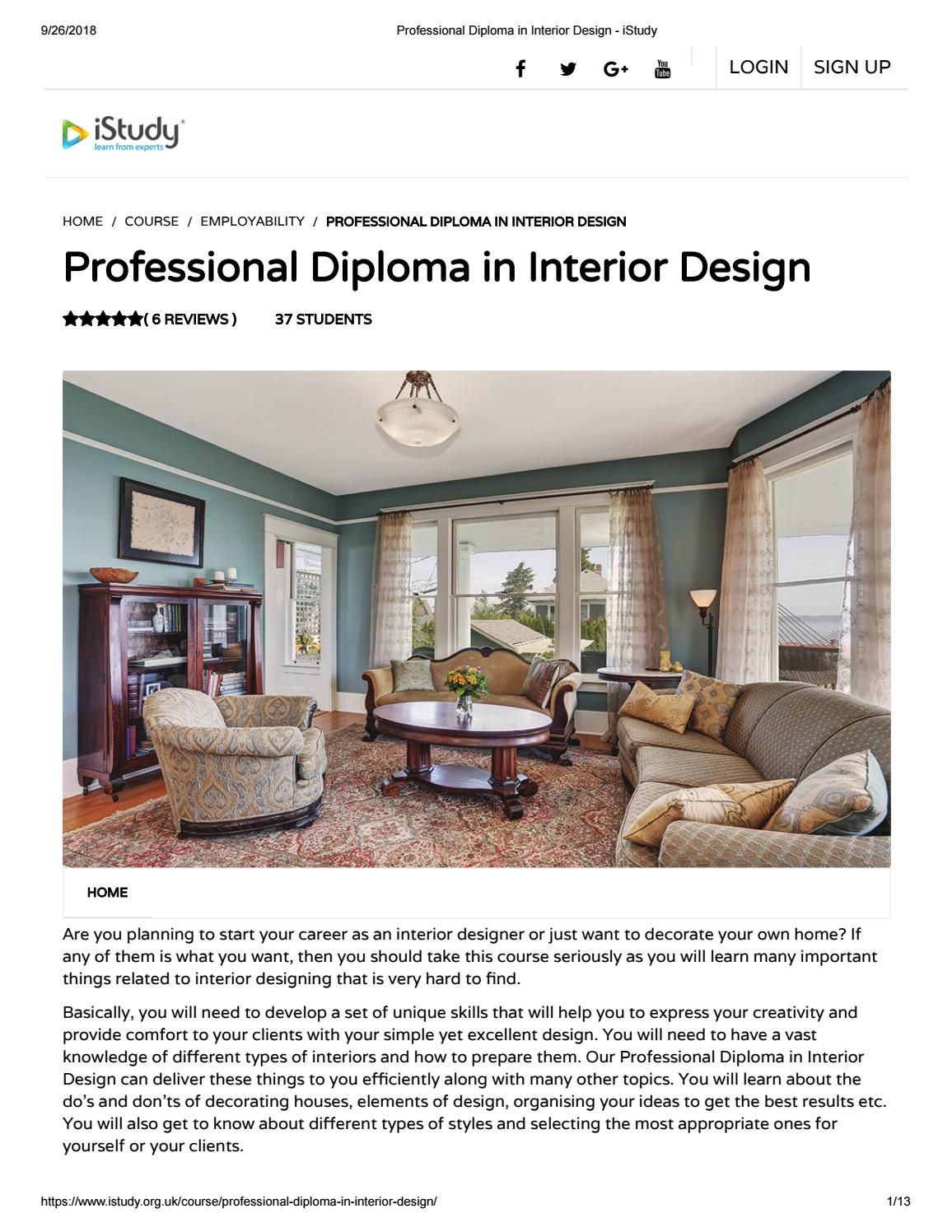 Professional diploma in interior design istudy courses pinterest and also rh