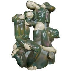 Karoly Fulop Art Deco Ceramic Sculpture