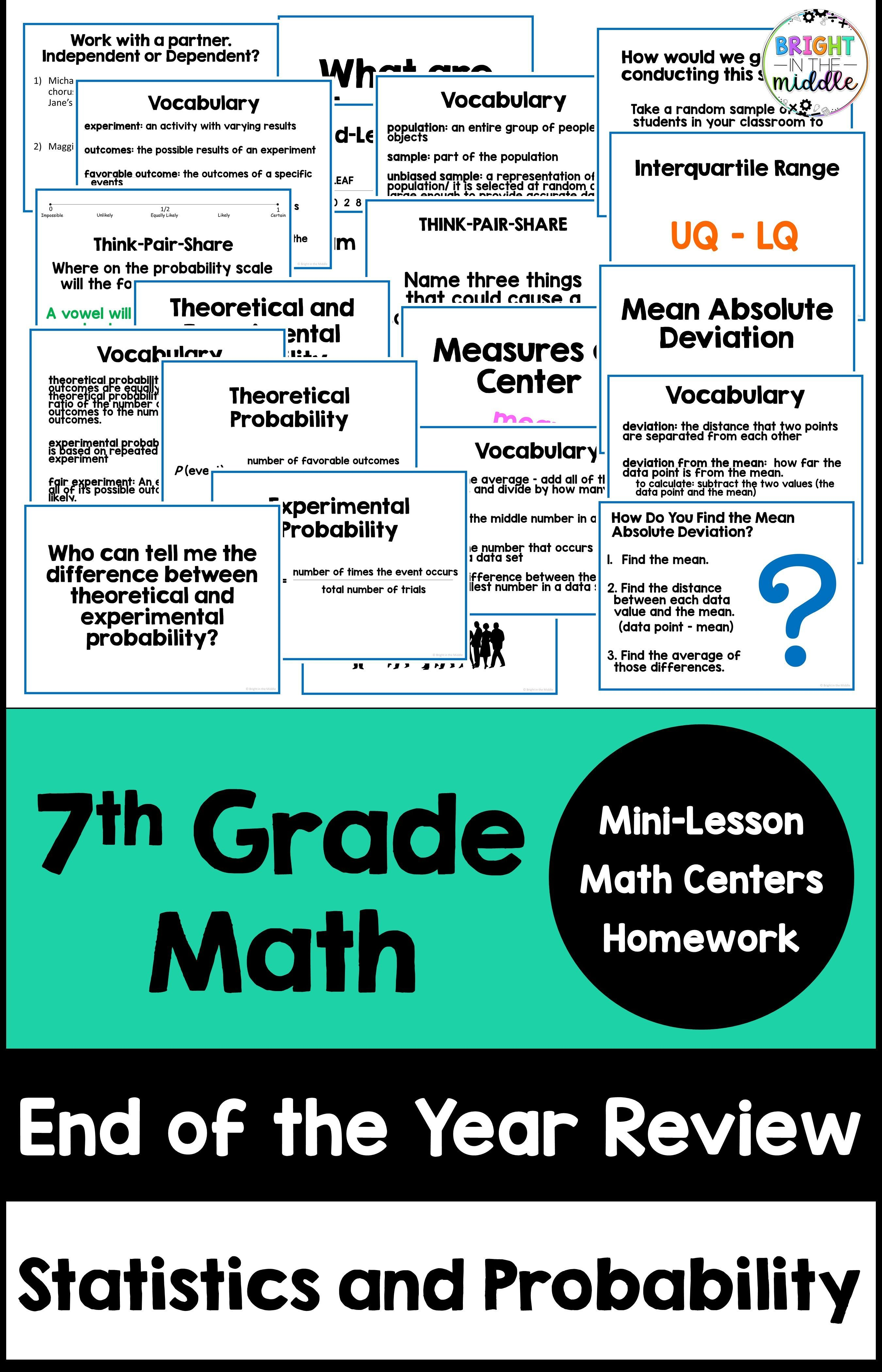 7th Grade Math End Of Year Review