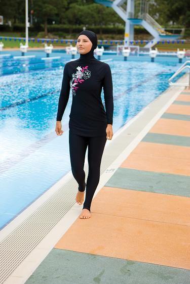 Women Swimsuit Tops Summer Muslim Ladies Split Swimsuit Set Full Cover Islamic