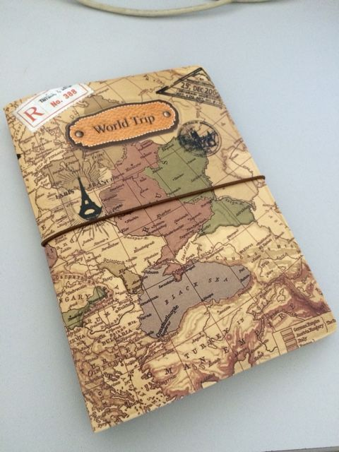 PU Leather World Map Passport Cover Card Package Ticket Travel Bag - $4.77