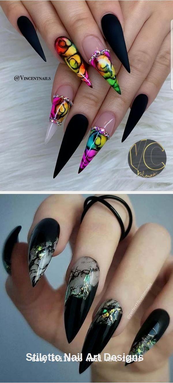 1 Great Stiletto Nail Art Design Ideas #nailideas  Stiletto nail