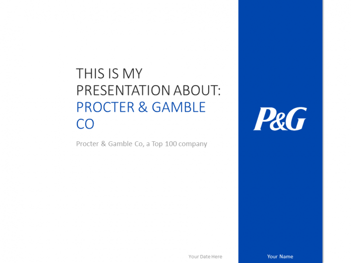 free procter & gamble powerpoint template with blue and white, Presentation templates