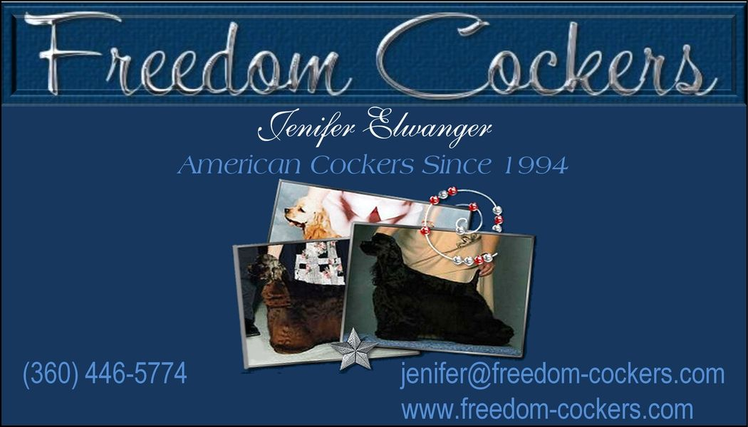 Visit our website!  freedom-cockers.com