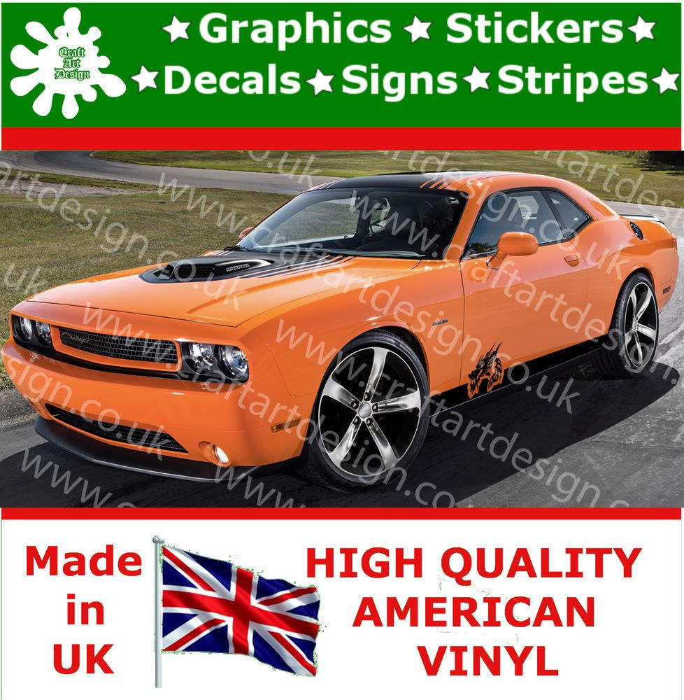 Dodge Dragon Racing Stripe Kit Car Side Sticker X Large Vinyl - Vinyl decals for race carspopular racing car decalsbuy cheap racing car decals lots from