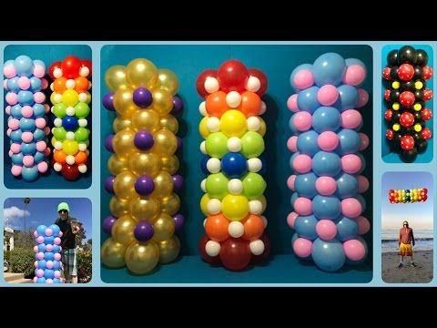 Easy Dollar Store Balloon Columns Tutorial