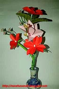 Cara Membuat Bunga Dari Kertas Bekas Dan Cotton Bud Bunga
