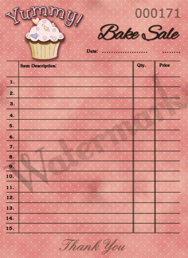 Printable Cupcake Bake Sale Hang Tag Receipt Ticket Atc Via Etsy Label Templates Printable Play Money Templates