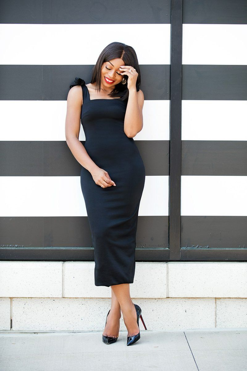 How To Wear Black Dress For The Holiday Jadore Fashion Basic Black Dress Wear Black Dresses Dresses [ 1200 x 800 Pixel ]