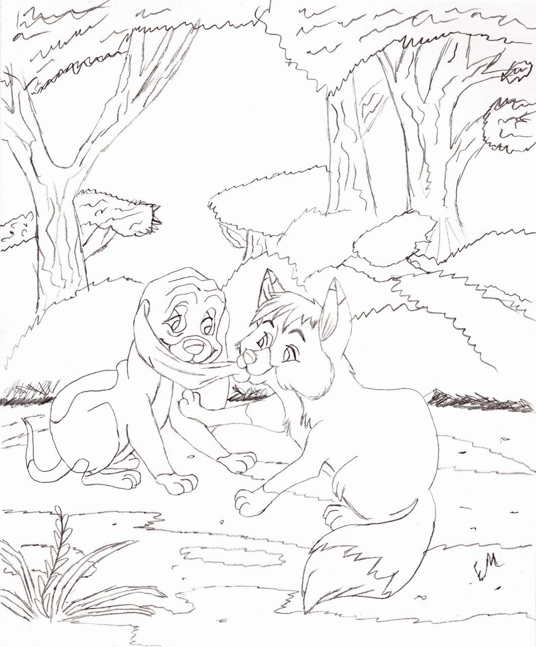 fox and the hound coloring pages - Google-søgning | The Fox And The ...