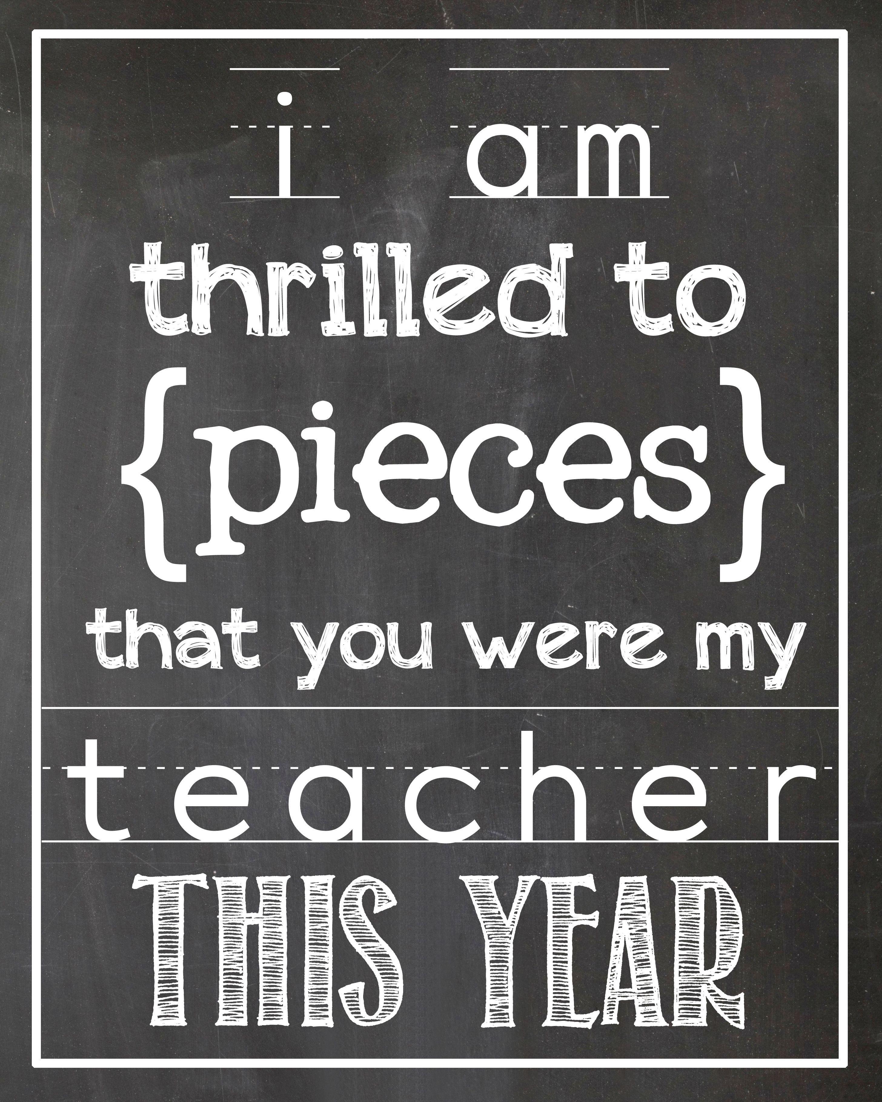 Thrilled To Pieces Teacher T