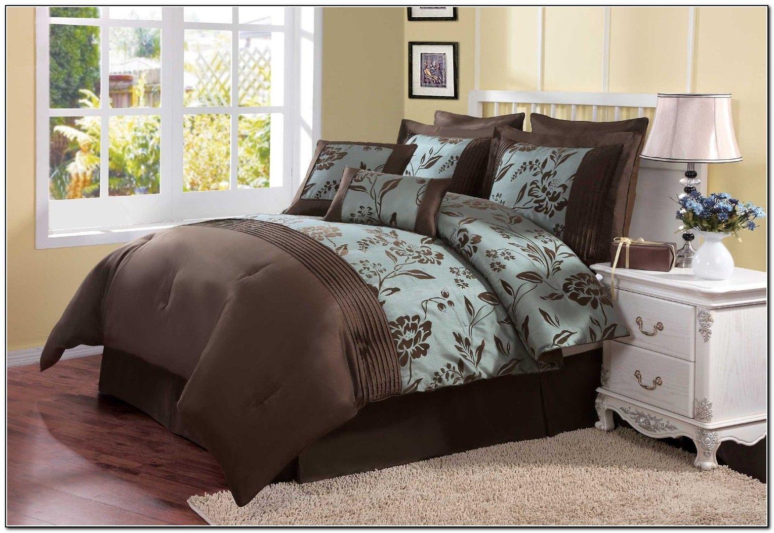 Aqua Blue And Brown Bedding Sets Beds Home Furniture Design
